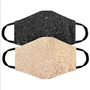 Adult Glitter 2Pk Masks